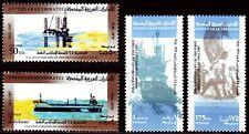 UAE 1987 ** Mi.227/30 Erdöl Oil Schiffe Ships Petroleum
