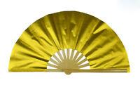 Chinese Kung Fu Tai Chi Wushu martial art magic Stage fan bamboo bone gold fan