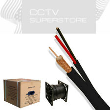 1000ft Rg59 Siamese Cable 20AWG+18/2 CCTV Security Camera Bulk Wire Black