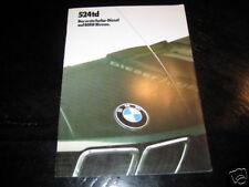 Folleto BMW E28 524 Td Von 1985
