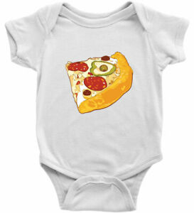 Infant Baby Bodysuit Romper One Pieces Shirt Gift Funny Piece Pizza Foodie Food