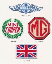 Morgan Weiss Auto zum aufb/ügeln Aufn/äher Patch Auto Morgan Motor Company Iron On