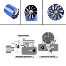 Double Fan Car Air Intake Turbonator Engine Turbine Super Charger Gas Fuel Saver