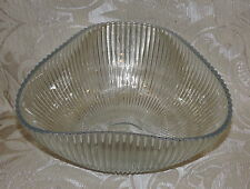 Coppa vetro opalescente a coste Arthur Percy Sweden 1950 Opalescent Glass Bowl