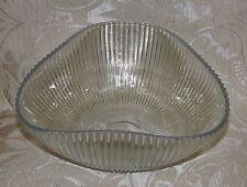 Coppa vetro opalescente a coste Arthur Percy? Sweden 1950 Opalescent Glass Bowl