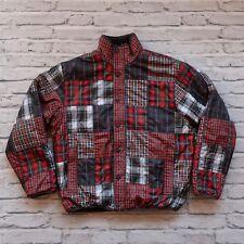 2007 Stussy Reversible Pile Fleece Plaid Jacket Size M