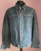 VTG Mens LEVI'S Re-engineered Cotton Mix Blue Denim Jacket Size Medium (68f)