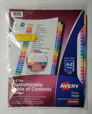 Avery 11125 Ready Index Durable Table Of Contents Dividers A Z Tabs