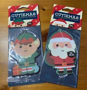 Cutiemas Christmas Car Air Freshener - Gingerbread Man OR Father Christmas - Fre