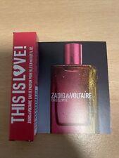 NEW - Zadig and Voltaire This Is Love Eau De Parfum Edp Sample 0,8ml 0.02oz