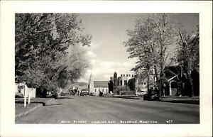 Bozeman MT Main St. East c1940s Real Photo Postcard