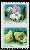 Canada #2622ii-2623ii Magnolias Se-Tenant Pair Die-Cut From Coil MNH