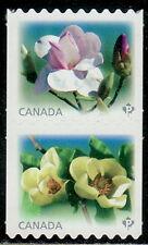 Canada #2622ii-2623ii Magnolias Se-Tenant Pair Die-Cut From Coil MNH