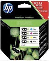 HP 933/932 4 Cartouches d'Encre Noire/Cyan/Magenta/Jaune neuf