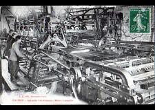CAUDRY (59) USINE de TISSAGE / OUVRIERS au travail au METIER à DENTELLE en 1913