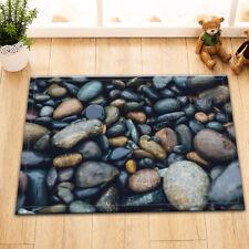 Cobblestone Stone Nonslip Doormat Floor Area Rug Memory Foam Mat Bedroom Carpet
