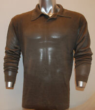 Mens sweater pullover sexy fit Grey size Large