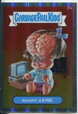 Garbage Pail Kids Chrome Series 1 Refractor Base Card 27a BRAINY JANIE