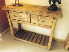 Handmade Solid Wood Console Tables with Drawers