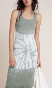 NWT ANTHROPOLOGIE SATURDAY SUNDAY $88 Aloe Tie-Dye Midi Dress Size S