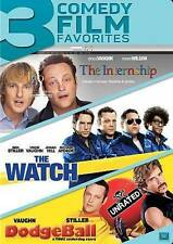 New! 3 Comedy Films: Dodgeball, The Watch and The Internship on DVD Ben Stiller