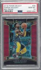 AARON HOLIDAY 2018 SELECT RED PRIZM RC #D 17/199 PSA 10 GEM MINT POP 1/1