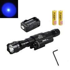 Neu 501D Light Blau Q5 LED 1000l Tactical Taschenlampe 18650&Rot Laser Dot Sight