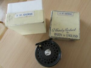 """A1 vintage hardy alnwick st george trout fly fishing reel 3"""" jack johnston + box"""