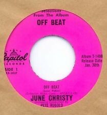 JUNE CHRISTY - OFF BEAT - CAPITOL - PINK LABEL PROMO
