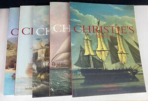 Lots of 5 Christie's Maritime Auction Catalogs 2000, 2001, 2002, 2003, 2004