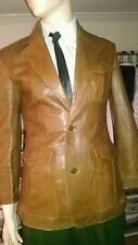 Mens Vintage Butterscotch 3 flap pocket blazer by Europe Craft
