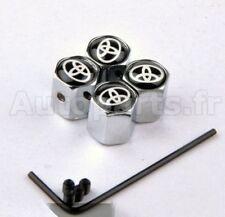 KIT 4 Bouchon de valve Antivol -  TOYOTA --INOX-  TUNING - INSIGNE LOGO -