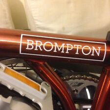 2019 Brompton folding bike fire red lacquer m type 6 speed virtually new bicycle