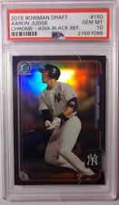 Rare! Aaron Judge 2015 Bowman Chrome Asia Black Refractor Rookie Card RC PSA 10