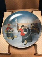 "COA Arabelle & Friends PLATE 1982 ""ICE DELIGHT""  by RECO INT MINT IN ORIG BOX w"