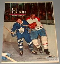 1962 Canadian Weekly Lou Fontinato MTL Canadiens Photo
