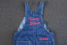 Vintage Rare Tommy Hilfiger Jeans Flag & Chainstitch Logo Denim Overalls Aaliyah