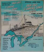 GEORGIAN BAY LINES ST. LAWRENCE SEAWAY SHIP CRUISES ADVERTISING BROCHURE 1960