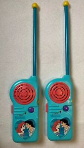 Vintage The Little Mermaid Sea Walkie-Talkies by Disney Toys 1997 LM-169 TESTED