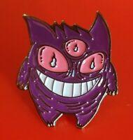 Pokemon Gengar Pin Enamel Metal Brooch Lapel Badge Cosplay Gift POGO Gaming