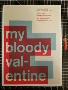 My Bloody Valentine Minimalist Concert Poster -  14 x 10 Print