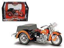 MAISTO 1/18 HARLEY-DAVIDSON CUSTOM 1947 SERVI-CAR ORANGE BLACK 03179