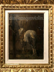 Edouard Brandon oil painting Horse Jewish French