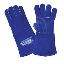 Lincoln Electric Welding Gloves Blue - Premium Leather 390mm (la120-2)