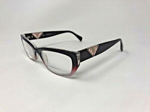 PRADA VPR10O ZXM-1O1 Eyeglasses Frame Italy 52-18-135 Burgundy Pink Split AB03
