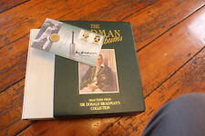 DON BRADMAN SIGNED PHILATELIC NUMISMATIC FIRST DAY COVER PLUS TWO BOOKS