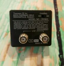 RCA Thomson CRF800 RF Modulator For Camcorder Coax Converter Adapter