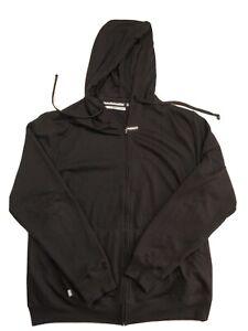 HoodieBuddie Mens Hoodie Black Size Large Built in Earbuds Headphones Sweatshirt