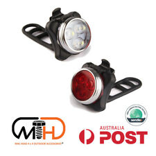Rechargeable Ipx4 Waterproof Bicycle Bike Lights Front Rear Tail Light Lamp USB