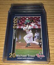 (15) - Card Lot - Mike Trout Rc 2010 Cedar Rapids Kernels #1 #2 #3 Rookie Lot.